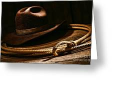 Lariat And Hat Greeting Card
