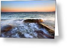 Larrabee Sunset Greeting Card