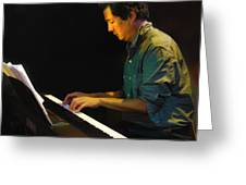 Larry Chinn On Piano Greeting Card