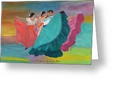Las Bailarinas De Costa Rica Greeting Card
