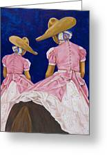 Las Charras Rosadas Greeting Card