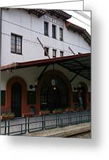 Las Planas Train Station Greeting Card