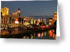 Las Vegas 36 Greeting Card by Lance Vaughn
