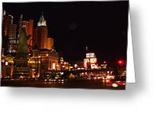 Las Vegas At Midnight Greeting Card
