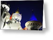Las Vegas At Night Greeting Card
