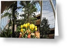Las Vegas Attrium Architecture N Interior Decorations Casinos Resorts Hotels Flowers Sky Green Signa Greeting Card