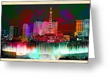 Las Vegas Bellagio Painting Greeting Card