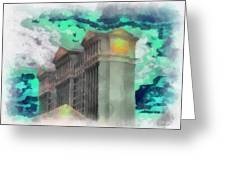 Las Vegas Caesars Photo Art Greeting Card