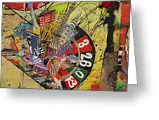 Las Vegas Collage Greeting Card