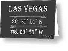 Las Vegas Coordinates Greeting Card