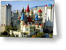 Las Vegas - Excalibur Hotel Greeting Card