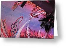 Las Vegas - Fremont Street Experience - 121212 Greeting Card