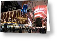 Las Vegas - Fremont Street Experience - 12127 Greeting Card by DC Photographer