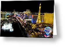 City - Las Vegas Nightlife Greeting Card