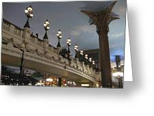 Las Vegas - Paris Casino - 12126 Greeting Card by DC Photographer