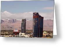Las Vegas. Rio Greeting Card