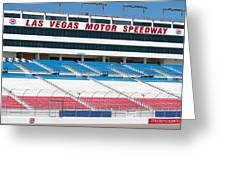 Las Vegas Speedway Grandstands Greeting Card