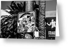 Las Vegas Sticker Sign Greeting Card