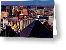 Las Vegas Sundown Greeting Card