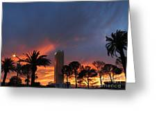 Las Vegas Sunset And Trump Tower Greeting Card
