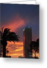 Las Vegas Sunset With Trump Tower Greeting Card