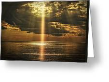 Laser Light Reflections Greeting Card