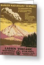 Lassen Travel Poster 1938 Greeting Card