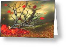 Last Leaves Greeting Card