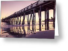 Last Light At The Capitola Wharf Greeting Card