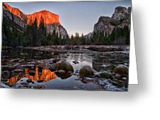 Last Light At Valley View Greeting Card