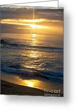 Last Light Greeting Card by Chris Heitstuman