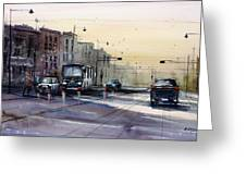 Last Light - College Ave. Greeting Card