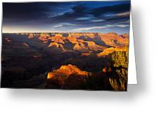 Last Light In The Grand Canyon Greeting Card by Andrew Soundarajan