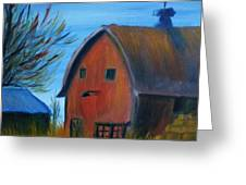 Last Of The Old Farms  Greeting Card