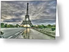 Last Parisian Glow Greeting Card
