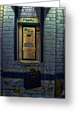 Last Pay Phone Greeting Card