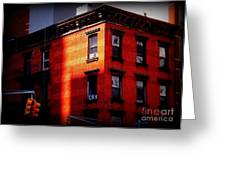 Last Rays Of The Sun - Old Buildings Of New York Greeting Card