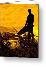 Last Surfer Standing Greeting Card by Ian  MacDonald
