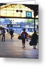 Last Train From Paris Greeting Card