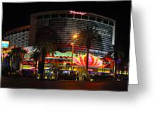 Las Vegas - The Flamingo Panoramic Greeting Card