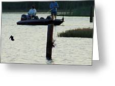 Late Afternoon At Lake Seminole Ga Bass Fishing Greeting Card