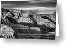 Late Afternoon In The Badlands Greeting Card