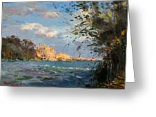 Late Afternoon On Goat Island Greeting Card