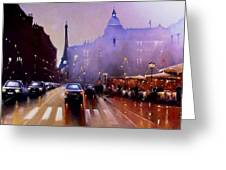Late Afternoon Paris Greeting Card