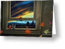 Late Autumn Breeze By Christopher Shellhammer Greeting Card