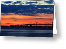 Late Evening Chesapeake Sunset Greeting Card