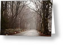 Late Fall Walk Greeting Card