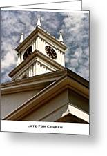 Late For Church Greeting Card by Lorenzo Laiken