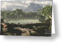 Late Jurassic East Africa With A Host Greeting Card