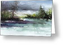 Late Lake Greeting Card